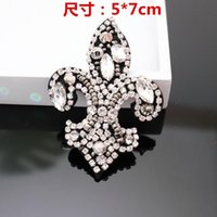 Luxury Designers Clothes Nail Drill Cloth Paste Auxiliary h Material Manual Diy Skeleton Hat Decal Decoration Croxin C hrome hearts