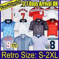 1982 1994 1998 1998 2002 1996 Inglaterra Futebol Jerseys Home Kits Beckham Gascoigne Owen Gerrard Camisa de Futebol Retro Barnes 1990 Fowler Hesque