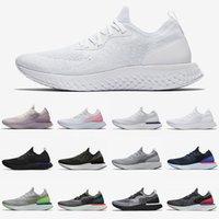 Tercihli Epic Reaktif Sinek Örgü Belçika Koşu Ayakkabıları Tüm Beyaz Gri Altın Moda Kraliyet Yeşil Kadın Erkek Açık Eğitmenler Sneakers 36-45