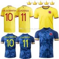 2020-21 Falcao Futbol Forması 20 21 Jerseys Davinson Sanchez James Copa Amerika Valderrama Cuadrado Futbol Gömlek Fanlar Oyuncu Sürüm Camiseta De Futbol Erkekler + Çocuklar
