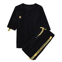 Marke Herren Trainingsanzug Sommer Männer Set Kurzarm T-shirts Hip Hop Tops + Shorts Anzug Sportswear Set Männer Kleidung Sets Männlich Trend M-4XLDESIGNER