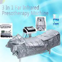 ЕС НАЛОГОВЫЙ 3in1 прессотерапия лимфодренаж дальнего инфракрасного отопления низкочастотный стимулятор мышц EMS одеяло сауна Микротоковая машина