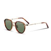 69% cage de lunettes de soleil polarisées Vintage Vintage Femmes et hommes Design de la marque de luxe de haute qualité Style rétro R2F8