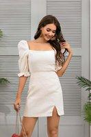 2-piece Dress Women's Autumn   Winter 2021 Solid Top + Half Skirt Net In Stock Tracksuits