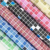 Duvar Kağıtları Kalın Su Geçirmez Kendinden Yapışkanlı Duvar Kağıdı Mutfak Yağ Geçirmez Banyo Tuvalet Duvar Kağıtları PVC Mozaik İmitasyon Karo Desen Sticker