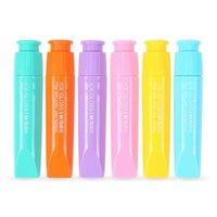 Highlights 36 teile / los Mini Lippenstift Highlighter Marker Fluoreszenzstift Süßigkeiten Farbe Caneta Schreibwaren Büro und Schulbedarf