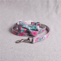 Pet Dog Collar Necklace For Cats Small Large Dogs Print High Quality Adjustable Accessories Bandana Collars & Leashes
