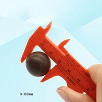 0-80mm Plastic Vernier Caliper Measuring Mini Tool Ruler