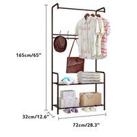 Perchas estanterías de estilo simple muebles de dormitorio anamas abrigo aterrizaje ropa de ropa soporte piso de pie estante estante estante ropa