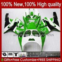 OEM Cuerpo para Kawasaki Ninja ZX7R ZX750 1996 1997 1998 1999 2000 2001 2002 2003 Green White New Bodyworks 28HC.65 ZX 7 R ZX 750 ZX 7R ZX-750 ZX-7R 96 97 98 99 00 01 02 03 Carreyo