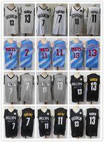 Mens Rembe Jersey Kyrie Kyvin 7 Durant 11 Ирвинг Джеймс 13 Хардин Баскетбол Шорты Баскетбол Джерси Флот Белый