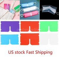 US Stock DHL Ship Portable face mask storage Clip Plastic Mini Foldable Holder Container Candy Colorful Storage Case Dustproof 19.2*12cm CJ05