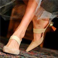 Dress Shoes Elegant Pumps Mules Women's Suede Leather High Heels Sandals Slide On Wedding Dating Nightclub