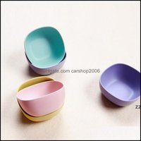 Dinnerware Kitchen, Dining Bar Home & Gardenpure Color Square Shaped Fruit Snack Bowls Small Mini Bamboo Fiber Bowl Kitchen Tableware Wholes