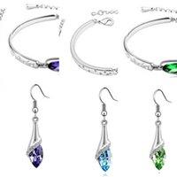 Factory Year Austria Designer Arrival Zircon Crystal New Angel Necklace  Earrings Bracelet Diamond Shoe Jewelry Sets FE4IJ