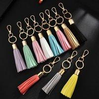 Velvet Tassel Charm Keychains Women Handbag Wallet Accessories Car Circle Key Rings Key Chains Christmas Gift