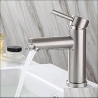Kitchen Faucets Faucets, Showers As Home & Garden304 Stainless Steel Bathroom Hand Wash Basin Faucet And Cold Water Tap Drop Delivery 2021 X