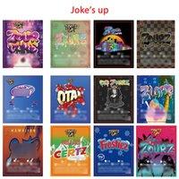 Belagt papper Anpassad klistermärke för vaxkoncentrat Förpackning Shatter Case Plast SD-kortbehållare Skämt upp Cookies Label Cakemix Gelato