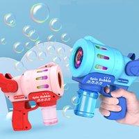 여름 재미 기계 비누 물 음악 거품 가족 게임 전기 수동 총 송풍기 장난감 어린이 선물
