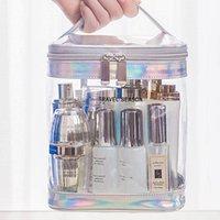 Storage Boxes & Bins Fashion Transparent Laser Travel Makeup Bag Women Handbag Zipper Wash Organizer