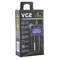원래 XTAR VC2 체차 NIMH 배터리 충전기 배터리 충전기 LCD 18650 18350 26650 21700 리튬 이온 배터리 충전기 도매