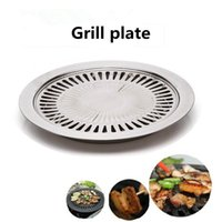 Tools & Accessories Outdoor Smokeless Barbecue Grill Pan Gas Household Non-Stick Stove Plate BBQ Tool Cocina Kitchen