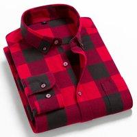 Мужские фланелевые клетчатые рубашки 100% хлопок 2021 весна осень повседневная рубашка с длинным рукавом мягкий комфорт Slim Fit Styles бренд для человека плюс