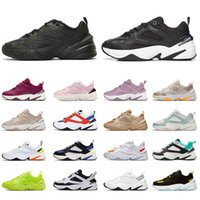2021 رجل m2k tekno مكتنزة أحذية أعلى جودة عالية البلاتين تينت أبيض أزرق جو رمادي أسود الكاكي الرجال النساء المدربين أحذية رياضية