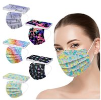 Luxury 3 Layer 95%Filtration Efficiency Adult Flower Printing Butterfly Disposable Face Masks for Men Women Dustproof Prevention Influenza Face Mouth Mask