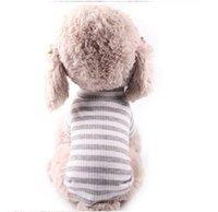 Pet Dog Striped T-shirt Vest Cat Clothes Puppy Shirt Chihuahua Poodle Yorkshire Terrier Dog Clothes Pet Clothing 1466 V2