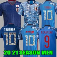 19 20 Atom Capitão Tsubasa Japão Home Away Men Soccer Jerseys Tailandesa Qualidade Capitão Tsubasa 10 Nakajima Kagawa 22 Yoshida 9 Okazaki