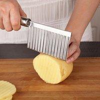 Batata Slicer Ondulado Cortador Prático Ferramenta Francesa Fries Cut Tiras Multi-Funcionamento Máquina Gadgets de Cozinha Vegetal