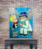 Am grote graffiti kunst olieverf thuis muur decor hoge kwaliteit pure handgeschilderd of HD-afdruk op canvas foto's, f210405