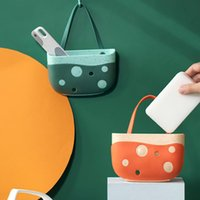Hanging Baskets Portable Home Kitchen Water Filtratio Bag Basket Bath Storage Tools Sink Double Thick And Durable Push Button Design
