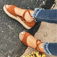 Sandals 2021 Women Woman Platform Peep Toe Female Gladiator Flats Ladies Zipper Shoes Women's Comfortable Plus Size Summer
