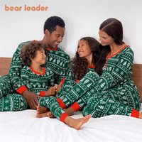 Bear Leader Christmas Family Mom And Daughter Matching Outfits Fashion Print Clothing Set Men Women Girls Baby Cute Clothes Suit 2101006