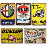 Motocicletas de ferro pintura de metal placa sinal vintage carro cartaz lata assina garagem casa arte decoração placa placa