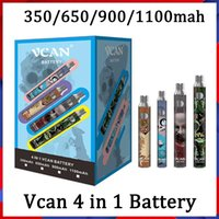 100% Original Vcan Battery 350mah 650mah 900mah 1100mah Vape Cartridges 510 Thread 4 in 1 Boxes EVOD Vision Spinner Cookies Backwoods Law Display