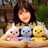 Beaux chiffres de cerf jouet 3 couleurs peluches poupées mignonnes pendeuses pendentif pour enfants adultes marionnette
