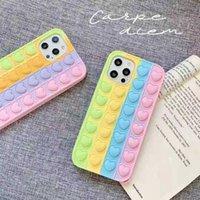 다채로운 심장 팝 fidget 푸시 거품 장난감 휴대 전화 쉘 애플에 적용 * 스트레스 reliever 감각 실리콘 실리콘 전화의 케이스 LLA695