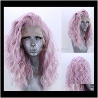 Products Drop Доставка 2021 Ange 16-дюймовый синтетический REMY кружевные фронтские парики симуляторы человеческие волосы Perruques de Chevaux Hustaines LS-495 CUBST