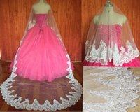 Bridal Veils Lace Edge 106 Inches Wedding Long Chapel Length Veil