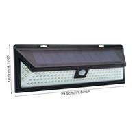 118 LED 태양 전원 PIR 모션 센서 가로등 인체 적외선 가벼운 정원 도로 방수 무선 벽 램프 270 ° 전면 도어 차고 마당에 대 한