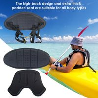 Rafts Inflatable Boats Adjustable Padded Kayak Seat Rowing Boat Soft Antiskid Base Seats Deluxe Fishing Cushion With Backrest Pad
