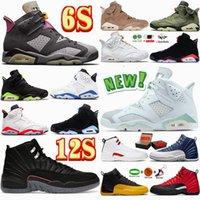 Zapatillas de baloncesto Jumpman Retro 6 6s British Khaki Carmine deportivas para hombre 13 13s Gym Red Flint Grey Hombre Zapatillas de deporte