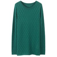 Hollow Out Knitted Women Pullovers Sweater Sleeve Split Female Spring Autumn O-neck Casual Office Ladies Jumper Women's Sweaters