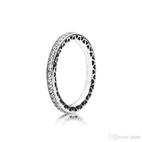 Real 925 Silver Silver CZ Diamond Anillo con caja original Fit Pandora Anillo de bodas Joyería de compromiso para mujeres