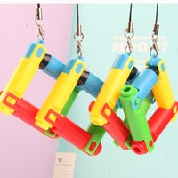 Foldable Ballpoint Pen Curved Bullet Mechanical Pencil Korean-style Creative Stationery Gift Cute Children Gift