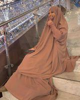Ramadan Eid Preghiera musulmana Abito indumento Donne Donne Abaya Jilbab Hijab Long Khimar Robe Abayas Islam Abbigliamento Niqab Djellaba Burka Etnica