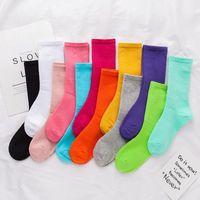 Arbeiten Sie Frauen und Männer Socken Qualitäts-Baumwolle Socken Brief atmungsaktive Baumwolle Sportsocken Großhandel